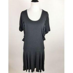 BCBG Maxazria Women's Black Cutout Back Mini Dress